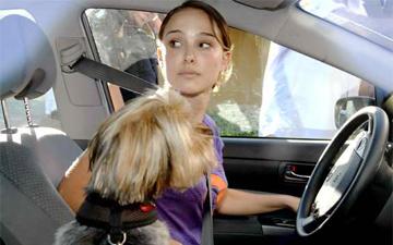 Наталі Портман зі своєю собачкою
