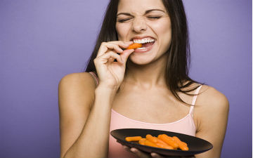 Для перекусу добре підійде хрумка морква