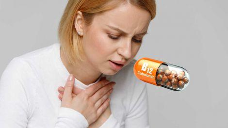 Дефіцит вітаміну B12: симптом в грудях вкаже на небезпечний стан