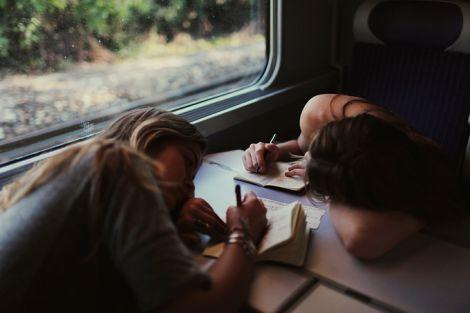 В поїзді