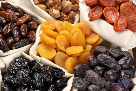 сухофрукти містять не менше вітамінів, ніж свіжі фрукти