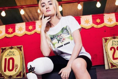 Бернадетт Хагенс - дівчина без ноги, яка стала моделлю