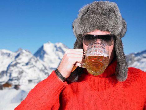 Не варто пити спиртне на морозі