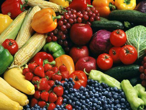 Корисні фрукти та овочі