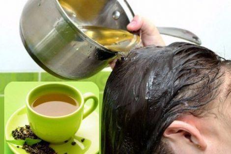 Як оживити волосся чаєм?