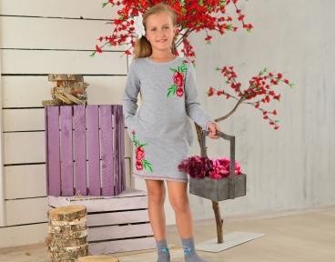 Весеннее платьице для девочки школьного возраста