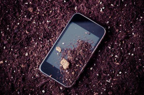 Бактерії на поверхні телефону
