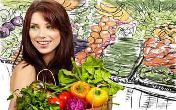 Головні продукти дієти - овочі