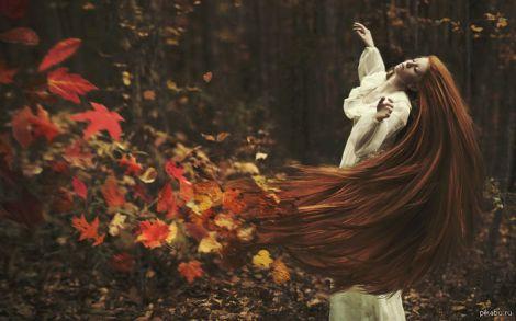 смотреть фото дівчини осені