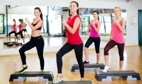 Заняття з степ-аеробіки для струнких ніг