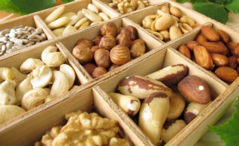 Різні види горіхів