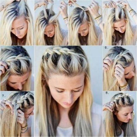 Косички на средние волосы своими руками фото