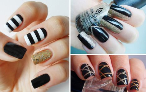 Черные ногти своими руками 72
