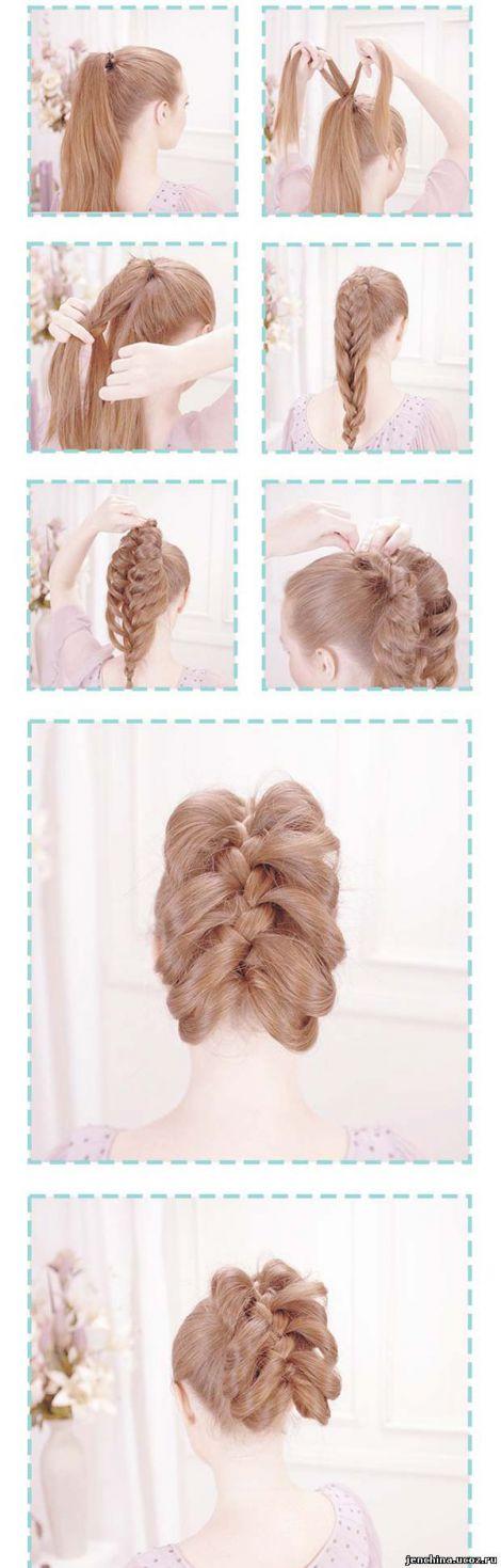 Косички на длинные волосы в домашних условиях фото